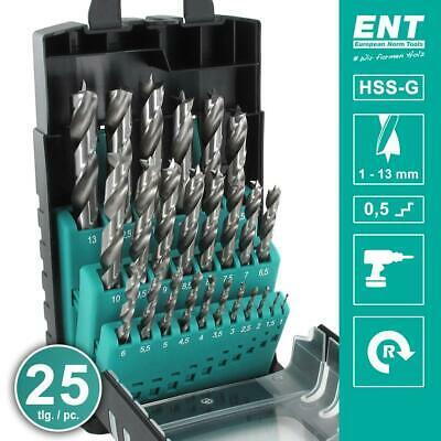 [ebay] ENT 25-tlg. HSS-G Holzbohrer-Set
