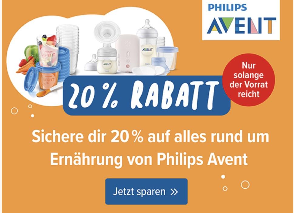 (Babyone) 20% Rabatt auf das Philips Avent Ernährungssortiment, auch auf reduziertes