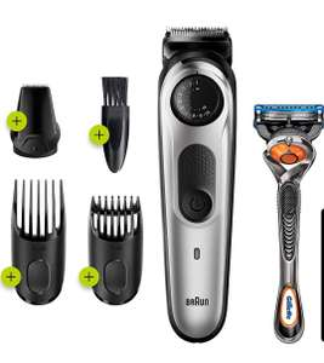 Braun – BT5260 - Bart- und Haarschneider, 39 Längeneinstellungen, Schwarz/Silber Metallic