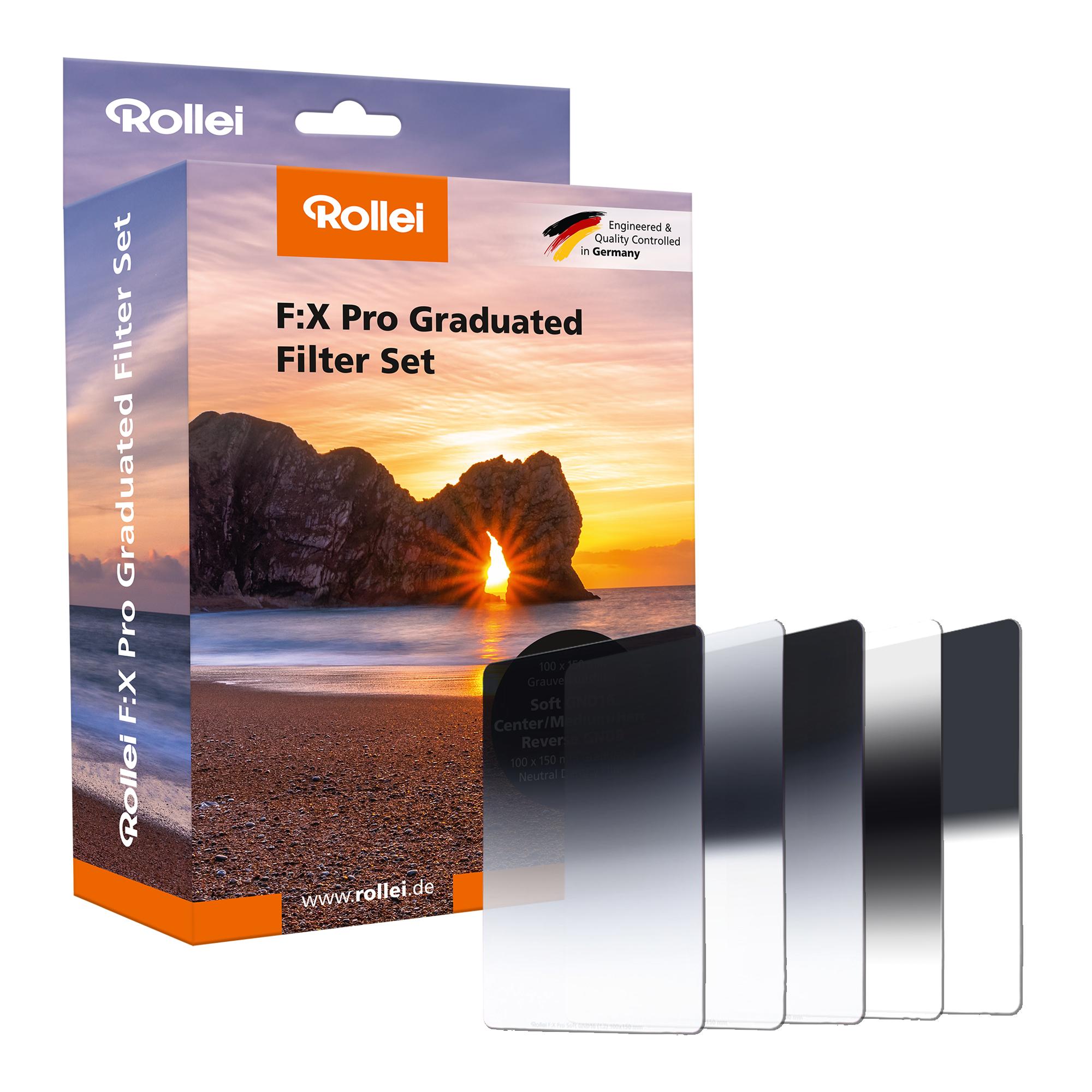 Rollei F:X Pro Rechteckfilter GND-Set und andere F:X Pro Filter