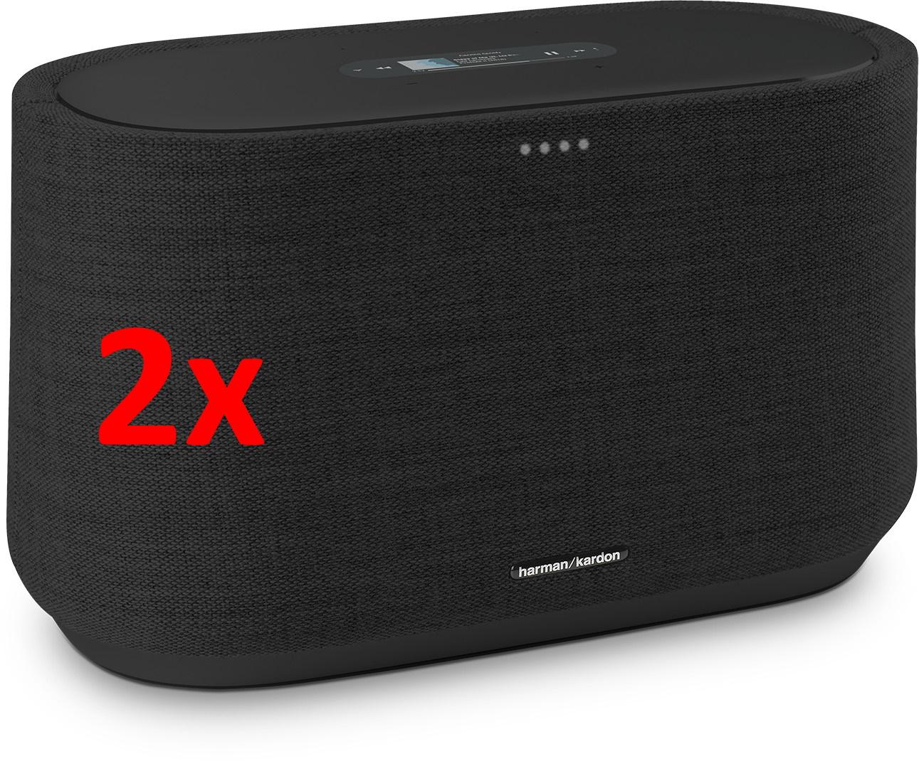 [Refurbished] 2x Harman Kardon Citation 300 Multiroom-Lautsprecher (100W, WLAN, Bluetooth, Internetradio, Google Cast, AirPlay 2)
