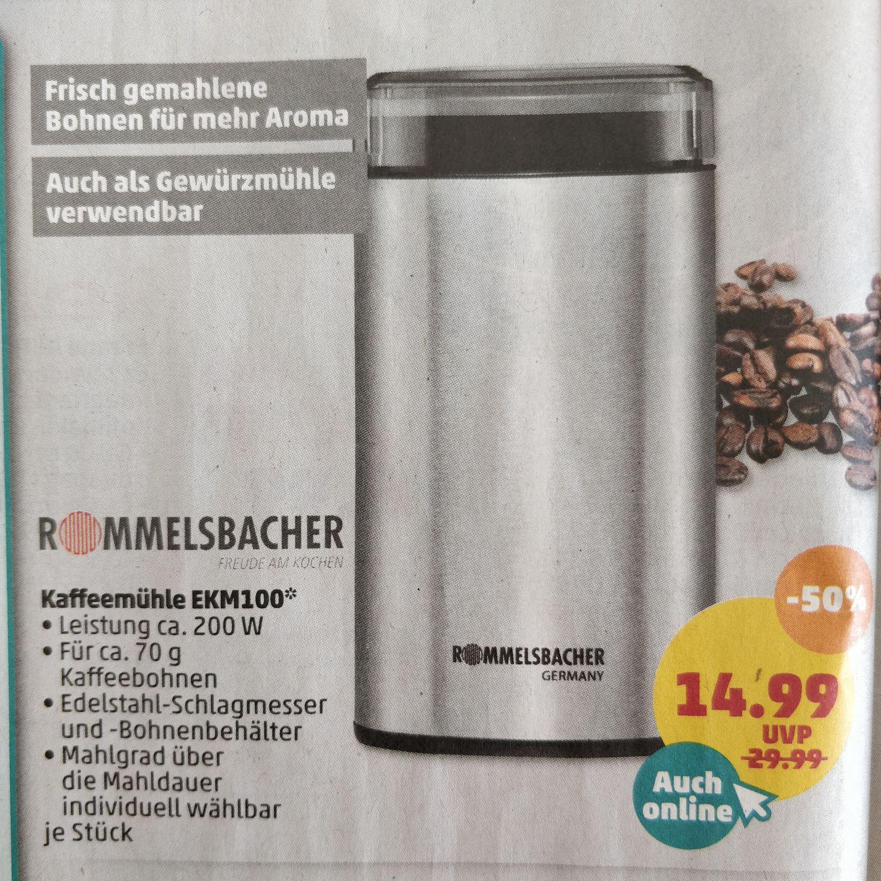 Rommelsbacher Kaffeemühle EKM100 Schlagmessermühle [Penny]