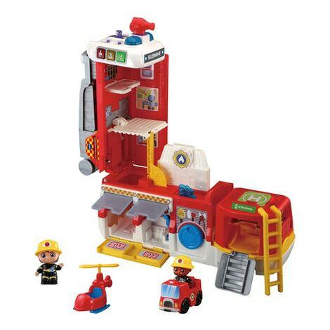 VTECH BABY Feuerwehrstation 2in1, Feuerwehrauto und Station, inkl. 2 sprechenden Feuerwehrfiguren, ab 12 Monaten [baby-walz.de]
