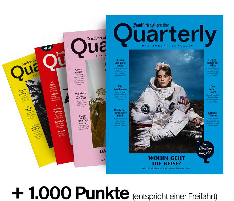 [BahnBonus] 4x FAZ Quarterly print + 1000 BahnBonus Punkte (z.B. eine Freifahrt 2. Klasse)