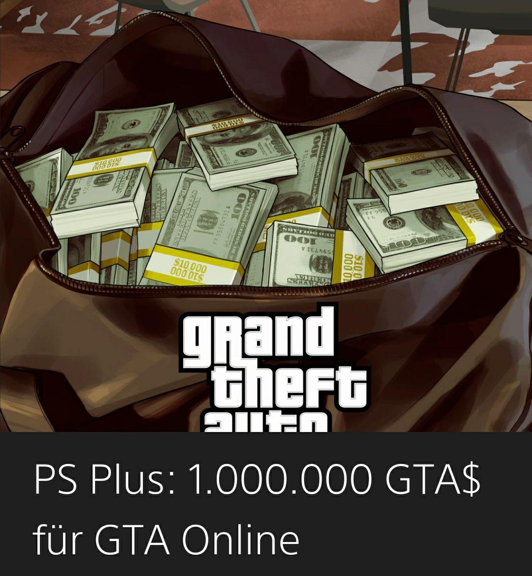 [PS+] 1.000.000 GTA$ für GTA Online (PS4) Kostenlos (PSN Store)