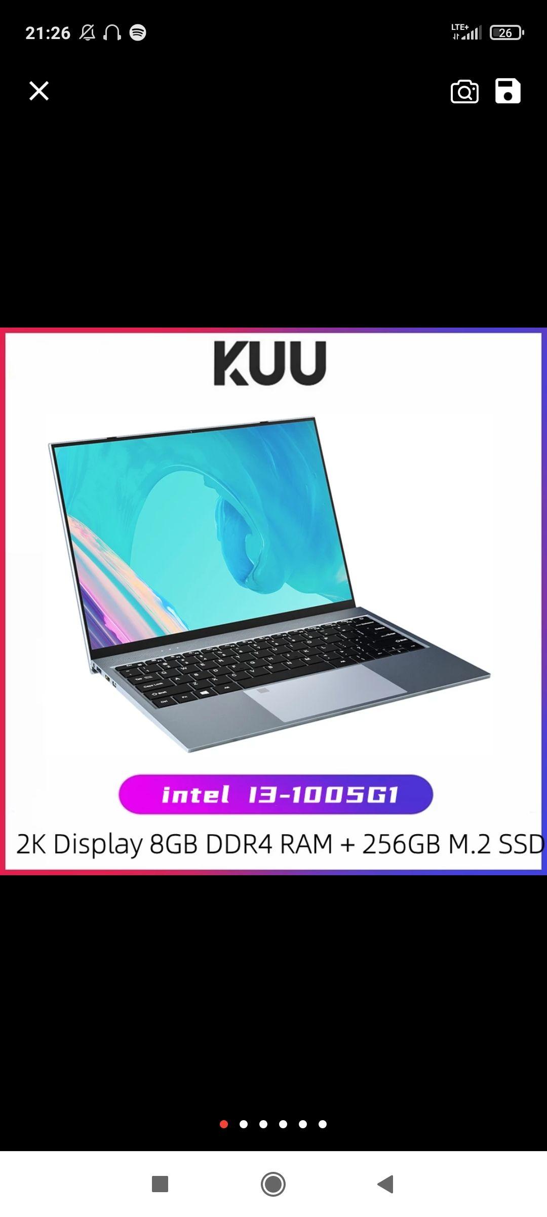 KUU X13 13,5 Zoll Intel i3-1005G1Laptop Fingerprint Alle Metall 8GBDDR4 RAM 256GB SSD Windows 10