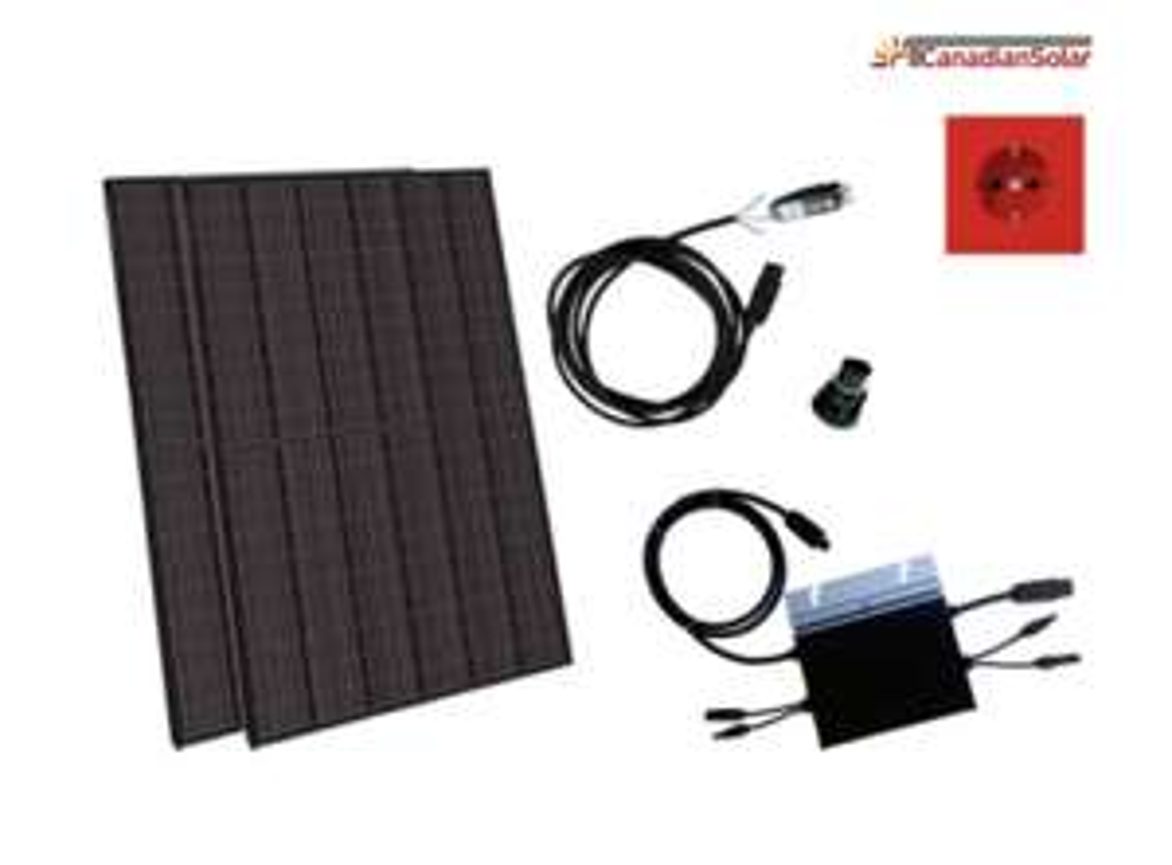 Balkonkraftwerk Set SelfPV 600W (670W) Ja Solar Module Hoymiles HM600 Wechselrichter (diverse Abholorte)