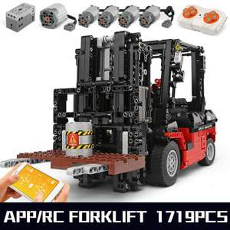 Mould King 13106 1:10 RC Gabelstapler / Forklift Mk II mit 5 Motoren inkl. OVP / 1700+ Klemmbausteine / ohne OVP: 72,76 EUR