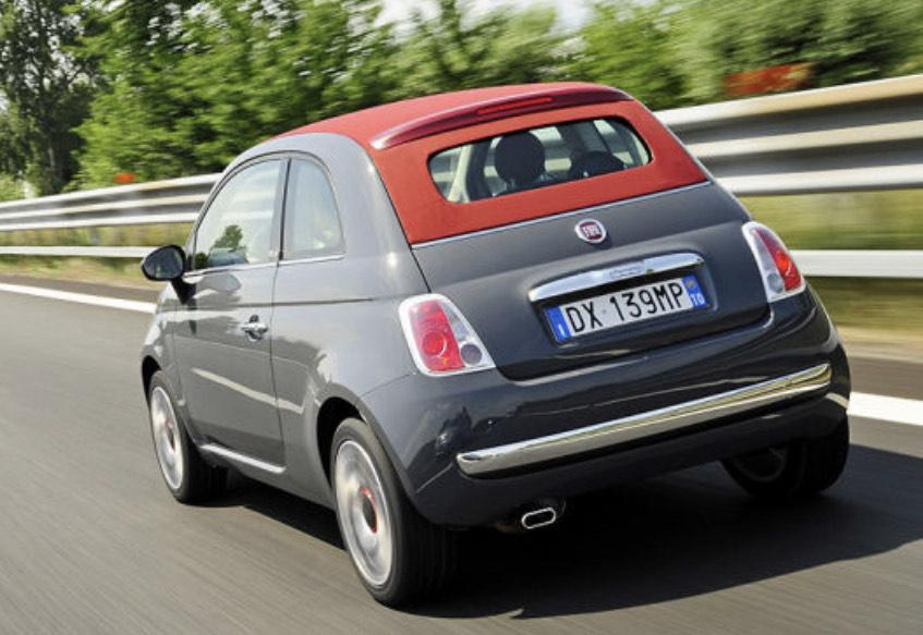 Fiat 500 Cabrio im Privatkunden Leasing für monatlich 77€ bei 18 Mon Laufzeit (LF:0,39)