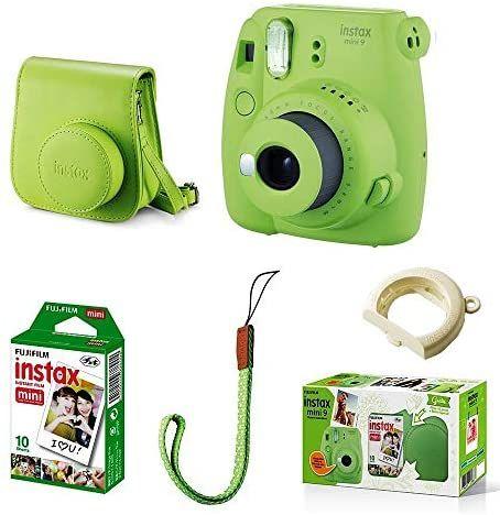 Fuji Instax Mini 9 in grün, inklusive 10er Film und Tasche