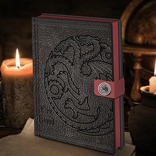 "Amazon Prime: Game of Thrones edles Notizbuch "" Targaryen Fire & Blood "" , A5 , ca. 180 Seiten"