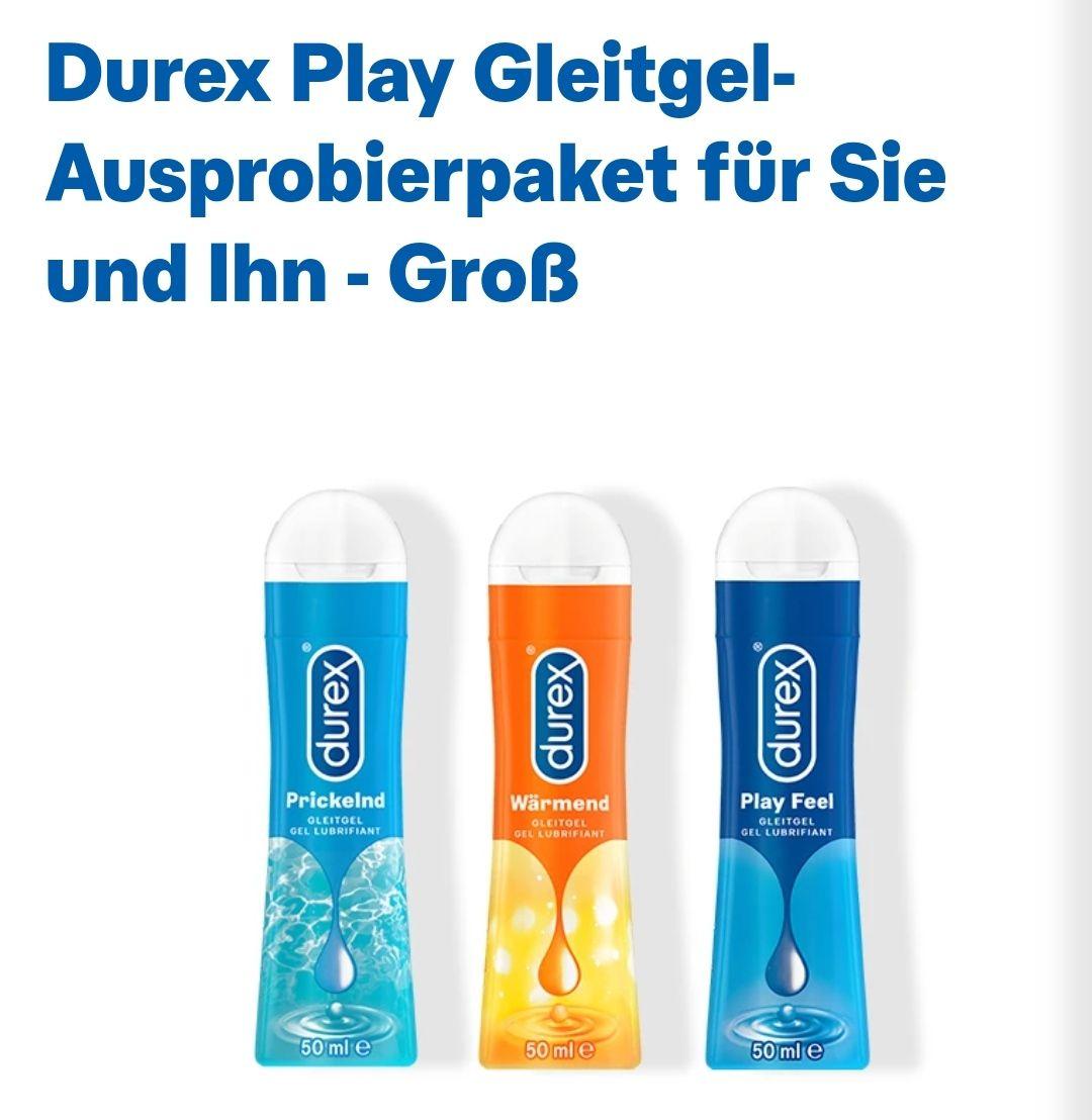 """DUREX Play Gleitgel Ausprobierpaket - 3 x 50ml - """"Play"""" Feel, wärmend und prickelnd für 10,69€"""