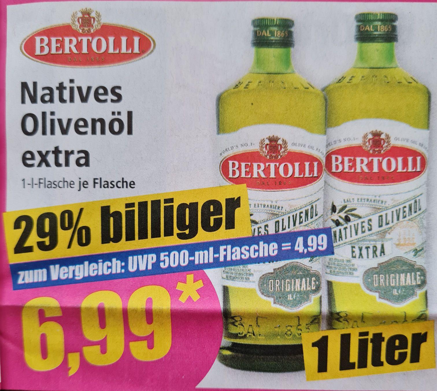 Natives Olivenöl extra 1 Liter Flasche ab 12.04 Norma