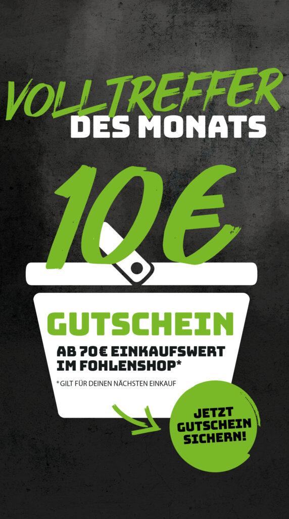 Borussia Mönchengladbach 10€ Gutschein ab 70€ Bestellwert für den nächsten Einkauf