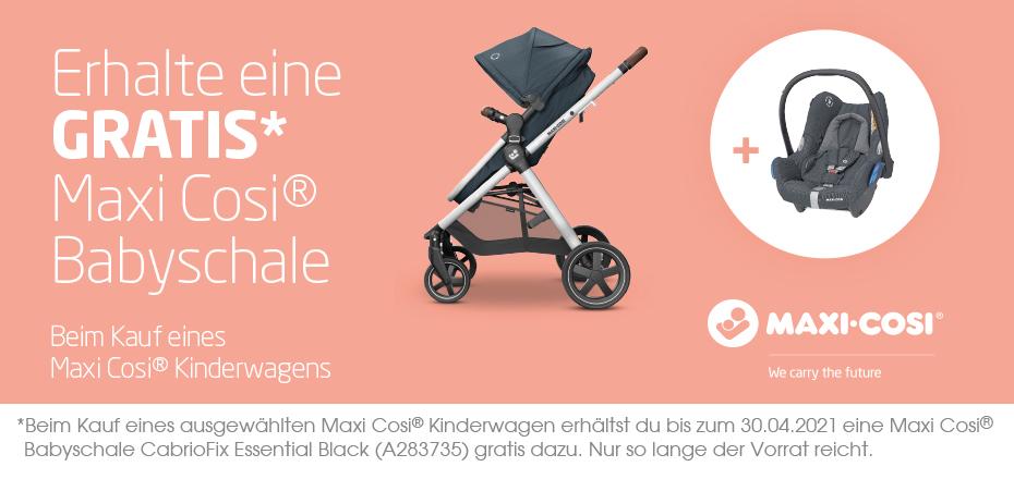 (Babymarkt) Maxi Cosi Buggy / Kinderwagen + Maxi Cosi CabrioFix Babyschale gratis dazu