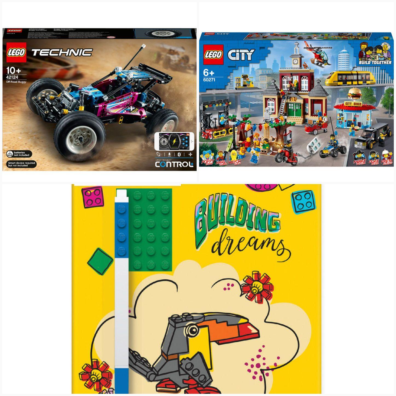 LEGO Technic 42124 oder CITY 60271 via Rabattcode mit Kd.karte + gratis LEGO Notizblock (17.99€)