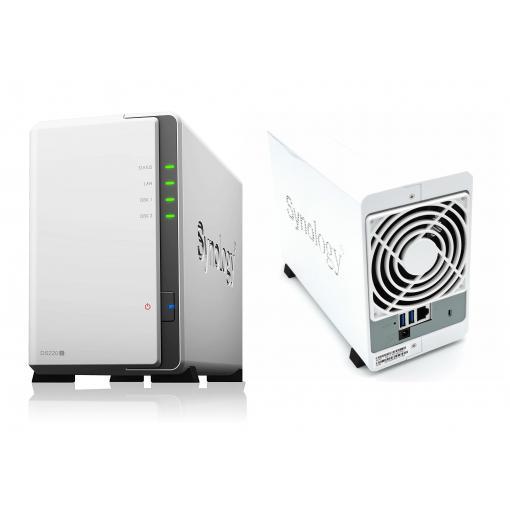 Synology DS220j 2-Bay NAS Leergehäuse Quad-Core-Prozessor Weiß, 3% Cashback möglich