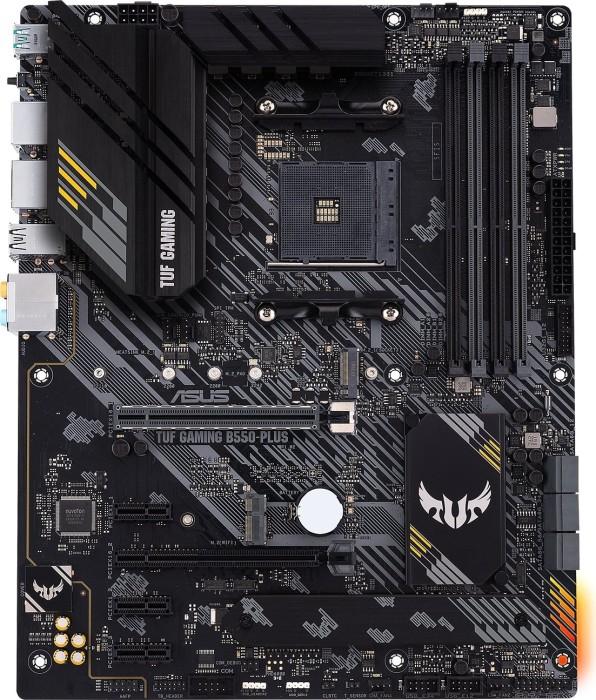 ASUS TUF Gaming B550-Plus Gaming ATX Mainboard (AM4, M.2, USB3.2, HDMI/DP, PCIe x16 4.0, Aura Sync RGB)
