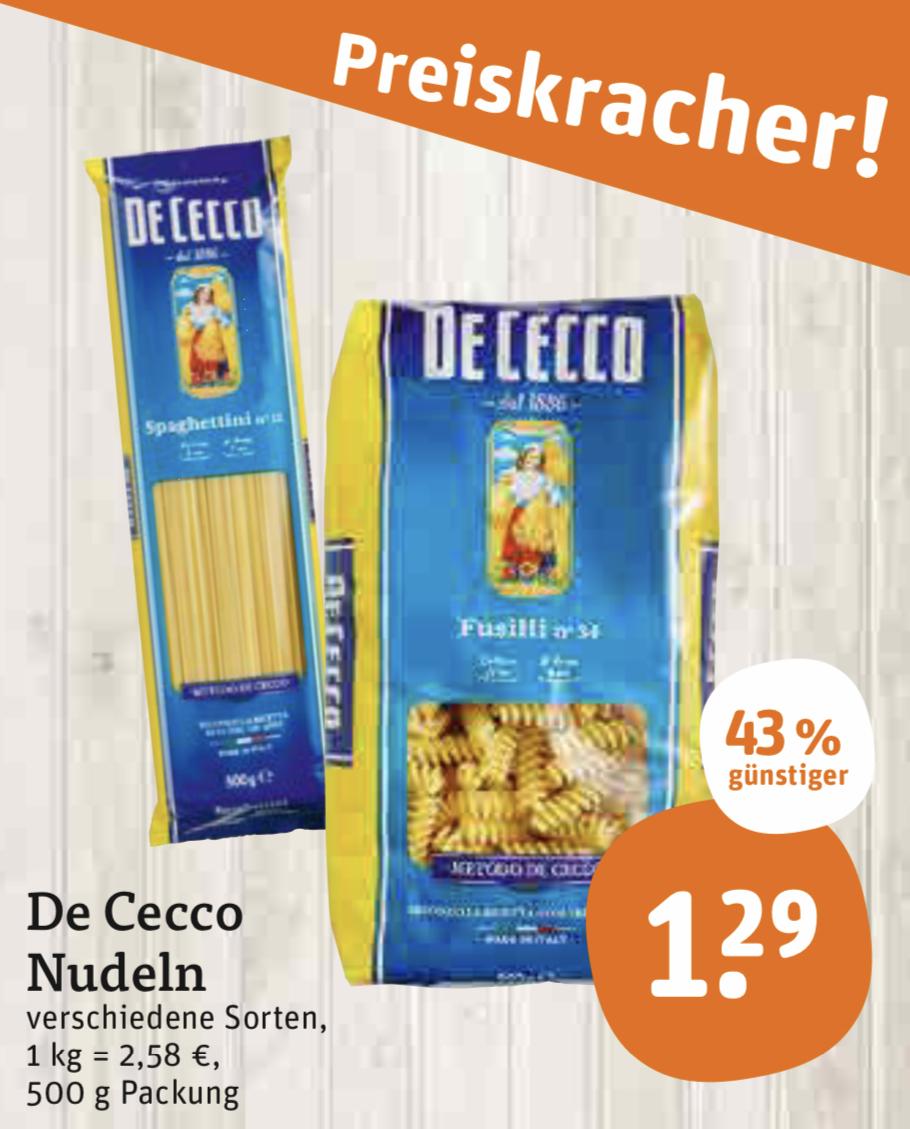 De Cecco Nudeln - versch. Sorten - Tegut