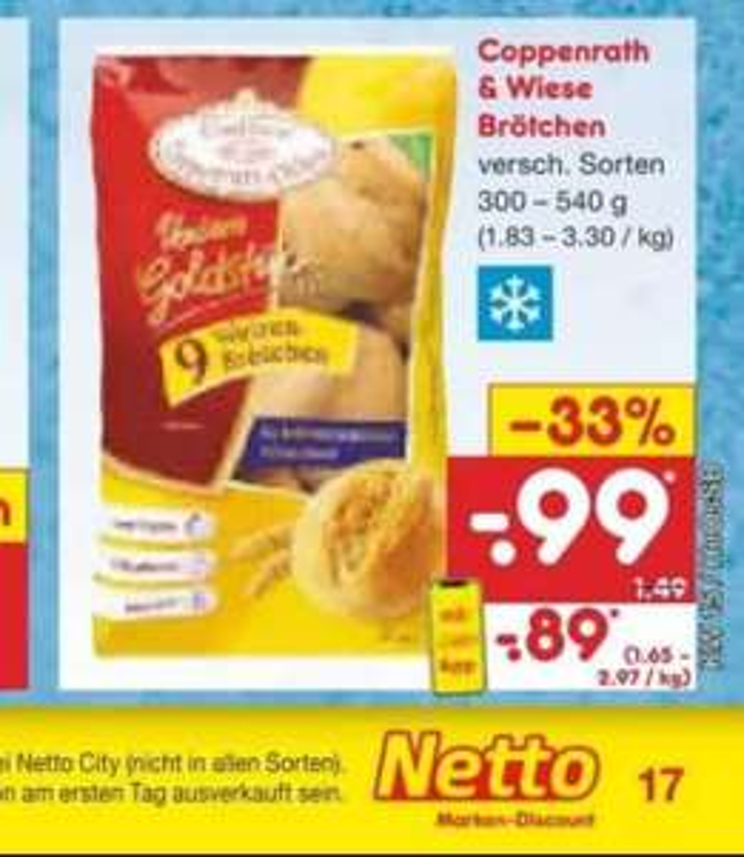 Coppenrath & Wiese Brötchen versch. Sorten für 0,89€ mit Netto-App bei Netto ohne Hund