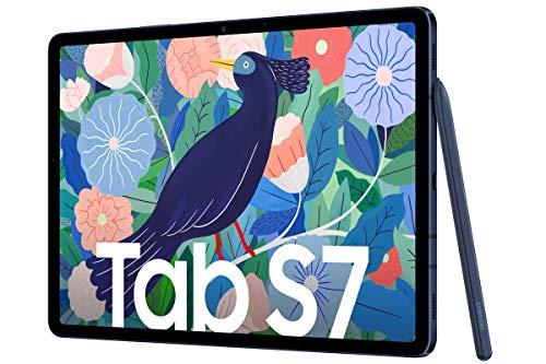 Samsung Galaxy Tab S7 mit LTE 128 GB / 6GB RAM - Navy + Book Cover Keyboard kostenlos
