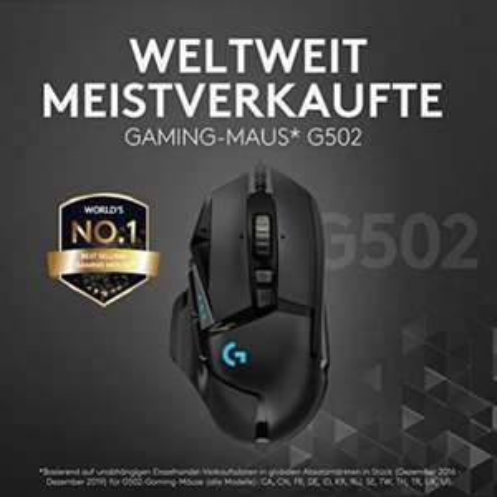Logitech G502 Hero Gaming Maus - Otto Deal des Tages (Amazon Prime für 39,99)