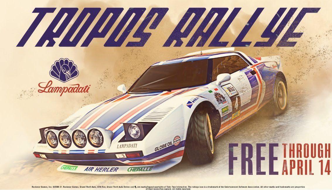 GTA Online kostenloser Sportwagen Tropos Rallye von der Firma Lampadati