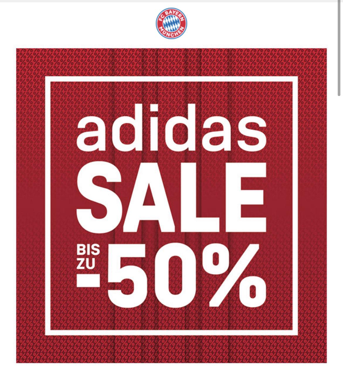 FC Bayern Onlineshop - Adidas Sale - Bis zu 50%!