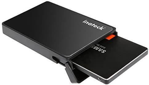 [Prime] Blitzangebot Inateck Festplattengehäuse 2,5 Zoll USB 3.0 für 7/9.5mm SATA SSD und HDD mit USB3.0 Kabel,