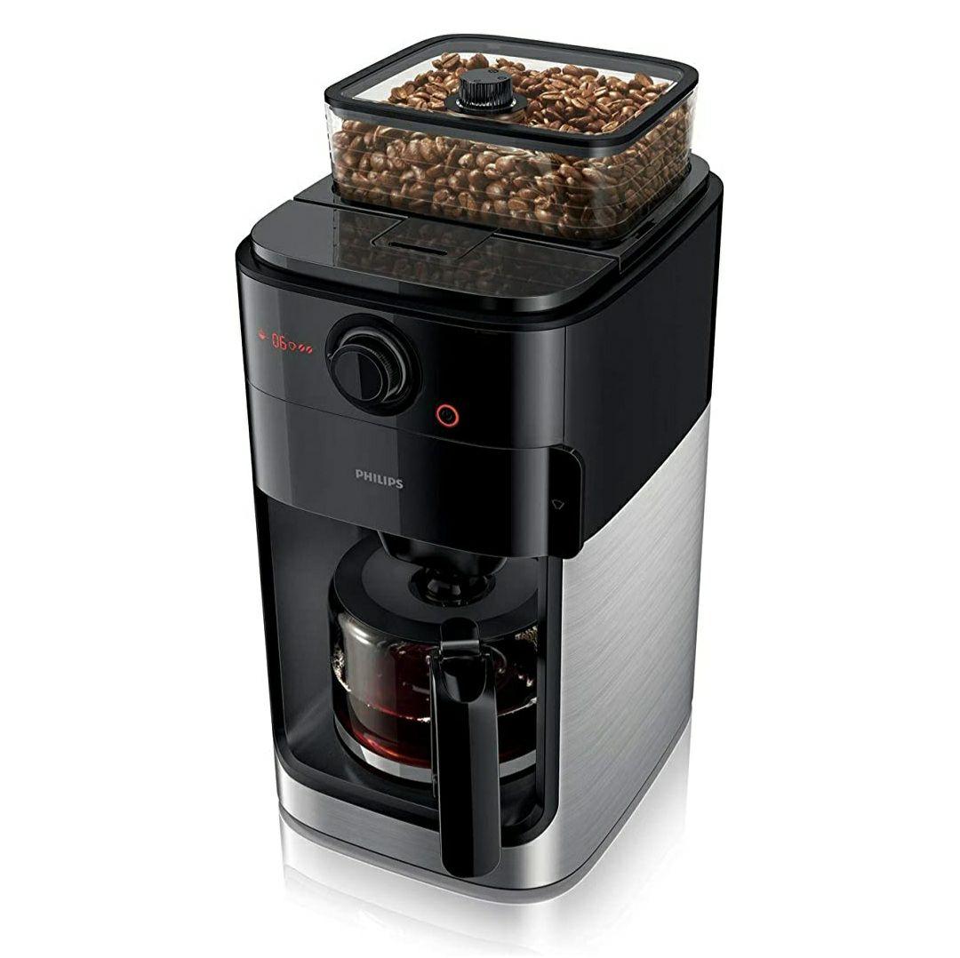 Philips Grind und Brew HD7767/00 Filterkaffeemaschine (mit Mahlwerk) edelstahl/schwarz **BESTPREIS**