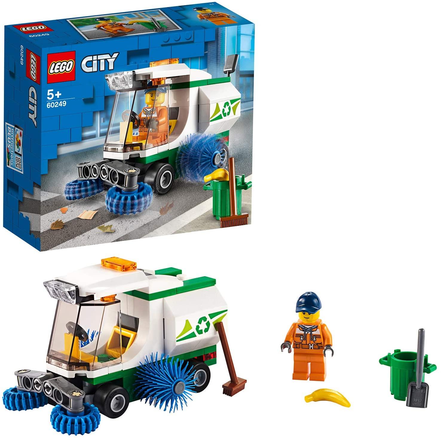 [Prime] LEGO 60249 City Straßenkehrmaschine mit Fahrer, Spielzeugautos Sets für Kinder (89 Teile)