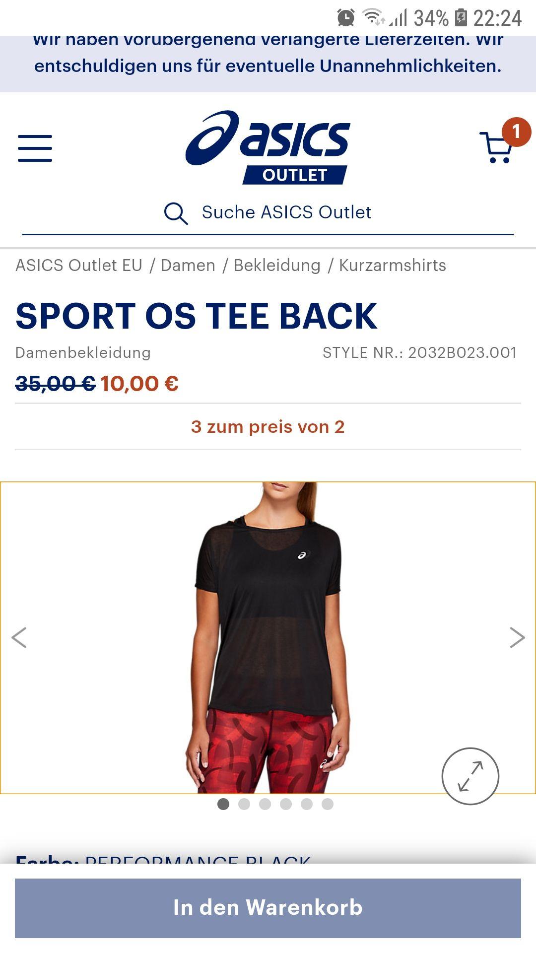 Damen Asics Sportshirt Nur noch Gr. M