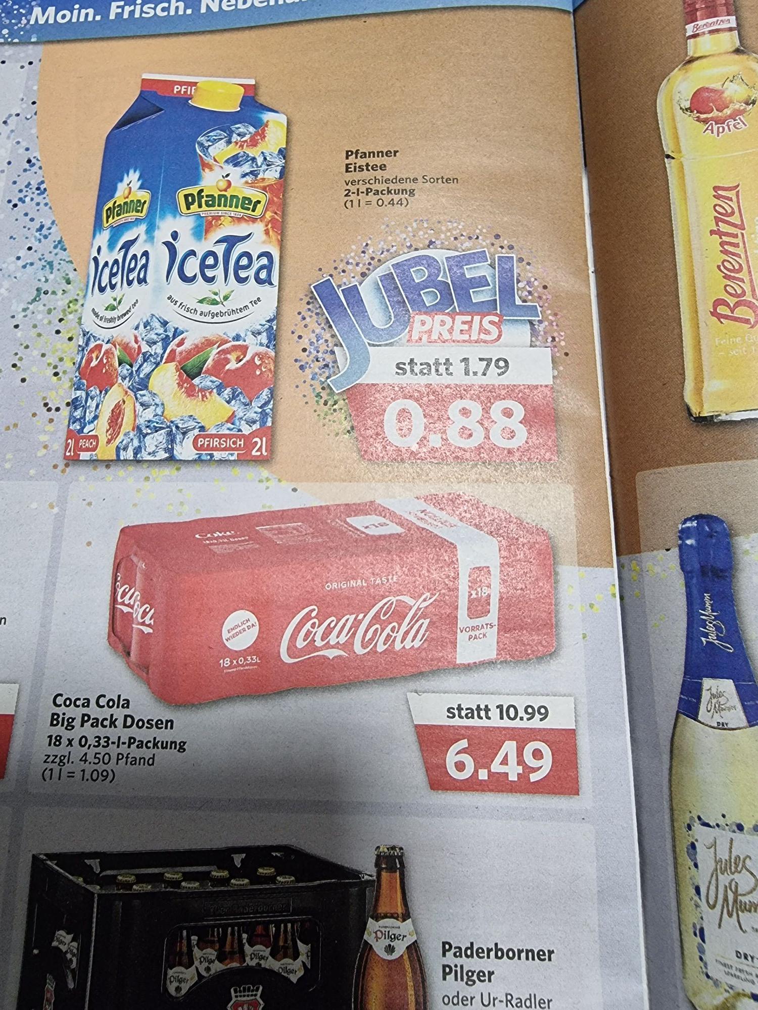 Coca-Cola 18x0.33l bei Combi für 6.49€ zzgl.4.5€ Pfand statt 10.99€