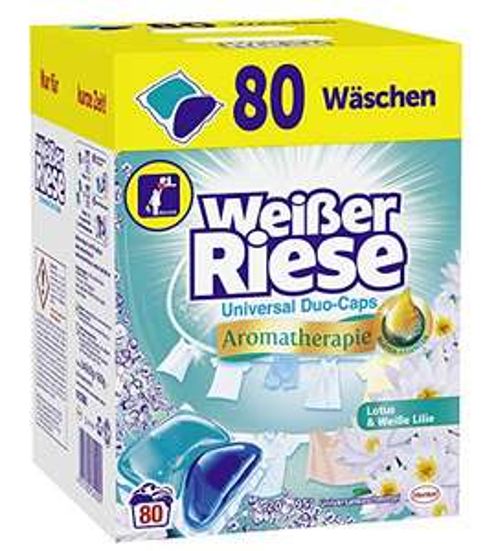 Weißer Riese Universalwaschmittel Duo-Caps, 80 Stück, Lotus & Weiße Lilie für 7,81€ / 7,33€ @Amazon