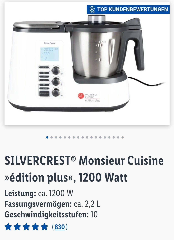 Lidl online SILVERCREST® Monsieur Cuisine »édition plus«, 1200 Watt