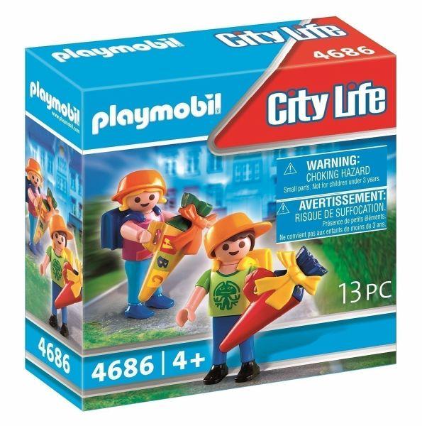 [buecher.de] PLAYMOBIL City Life 4686 Erster Schultag (2 Figuren, 11 Zubehörteile, passend zur Einschulung)