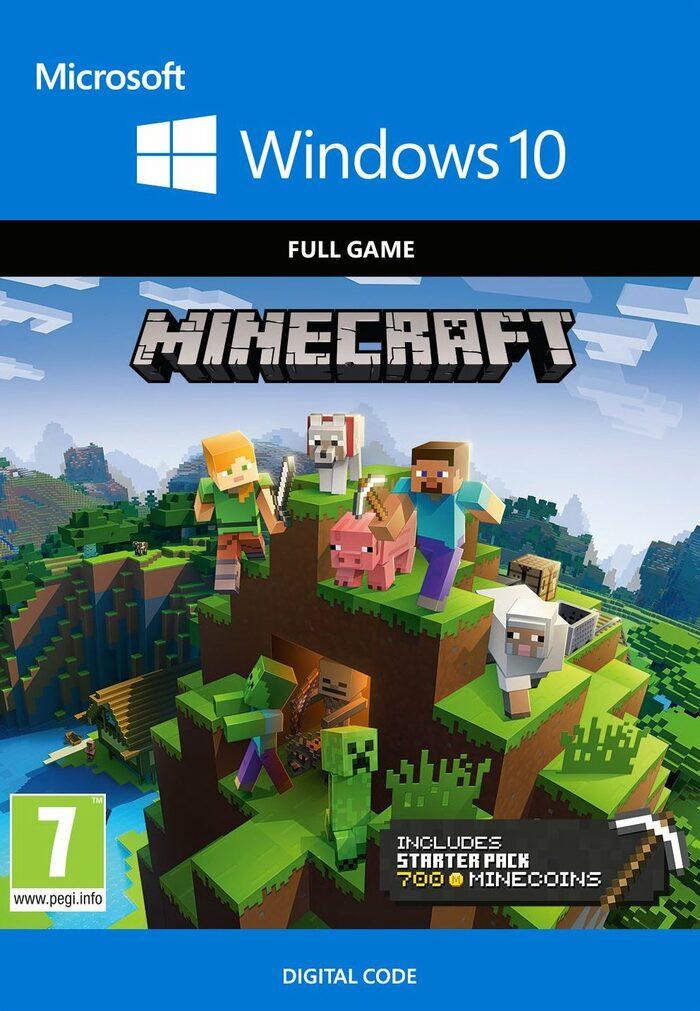 Minecraft Windows 10 Starter Collection (Basisspiel + DLCs + 700 Minecoins, Microsoft Store Key, PC, Metacritic 93/8.0)