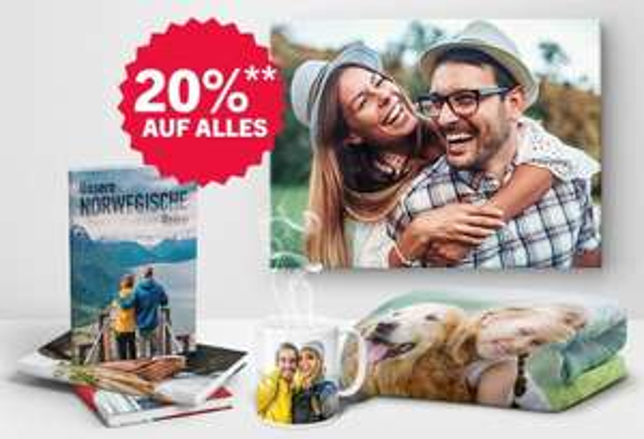 RTL Fotos 20% auf fast alles: Fotobücher, Fotokalender, Postkarten, Wandbilder auf Leinwand, Foto-Tassen und mehr