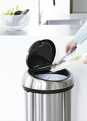 Brabantia Touch bin 60 L / Metallic Grey stylischer Mülleimer