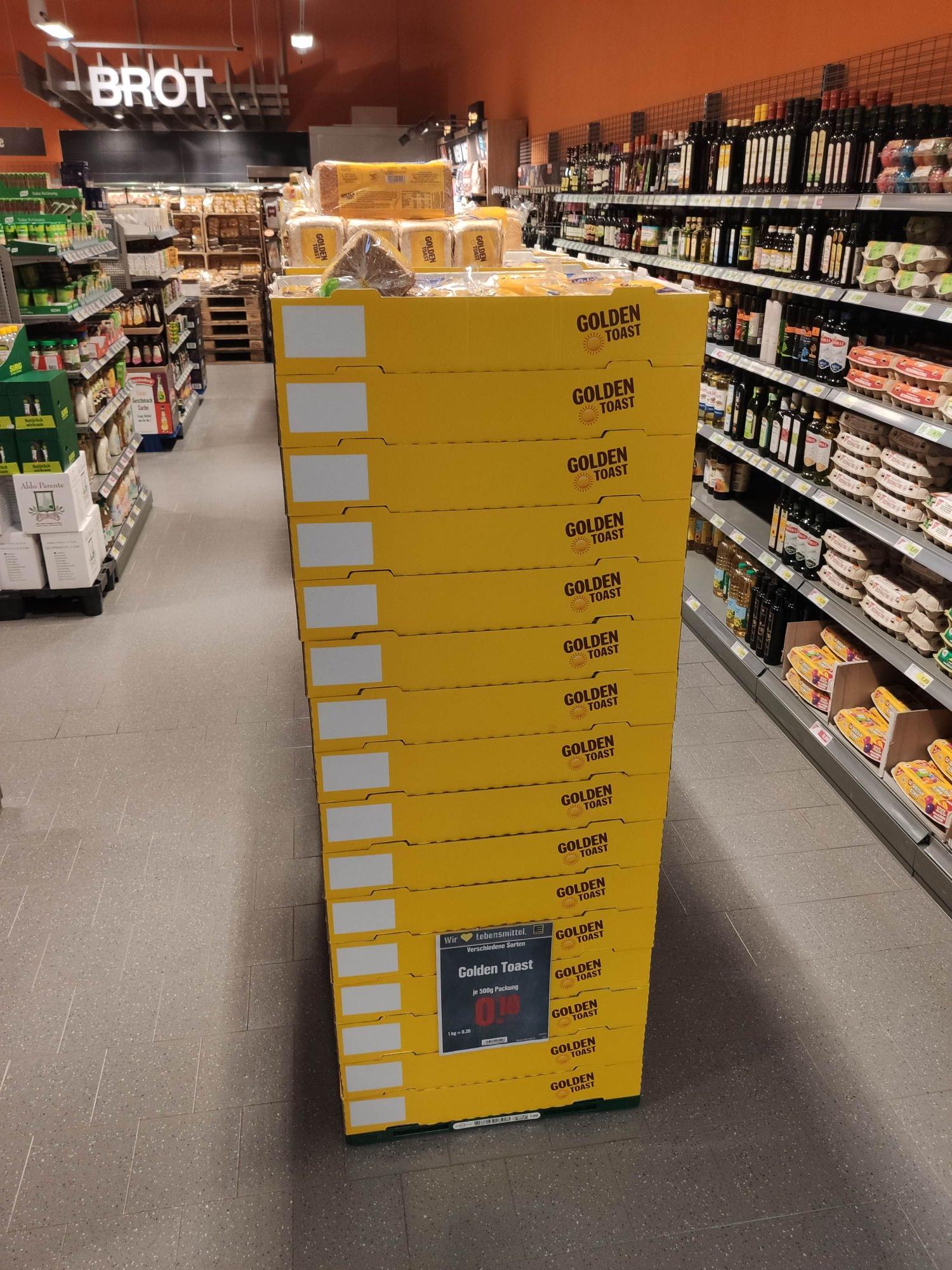 [Lokal Edeka Gießen - Biebertal] Golden Toast 500g (verschiedene Sorten) für 0,10€ statt 1,29€ (MHD: 20.04.21)
