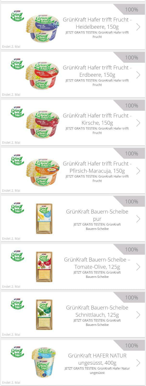 [GzG, Scondoo] GrünKraft - Vegane Produkte gratis testen