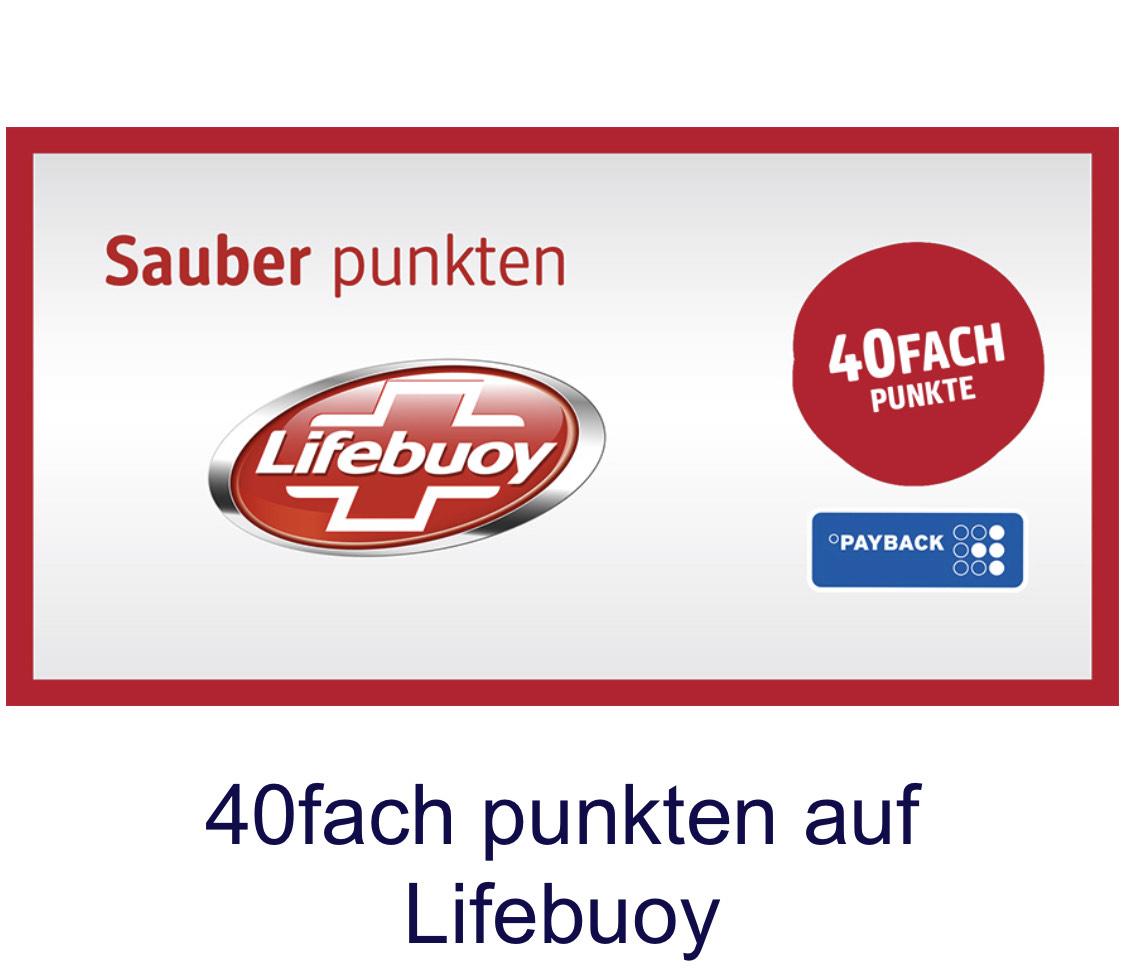 40 fach °P Payback bei dm auf LIFEBUOY (Hygiene, Handdesinfektion u. -reinigung) - personalisiert?