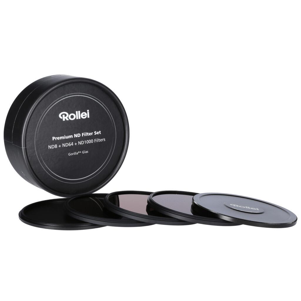 Rollei Premium ND-Filter-Sets (Graufilter) - diverse Durchmesser - ND8, ND64 und ND1000