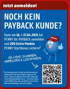[payback] 200 Extra-Punkte Penny Coupon für Neukunden des 16.04.+17.04.