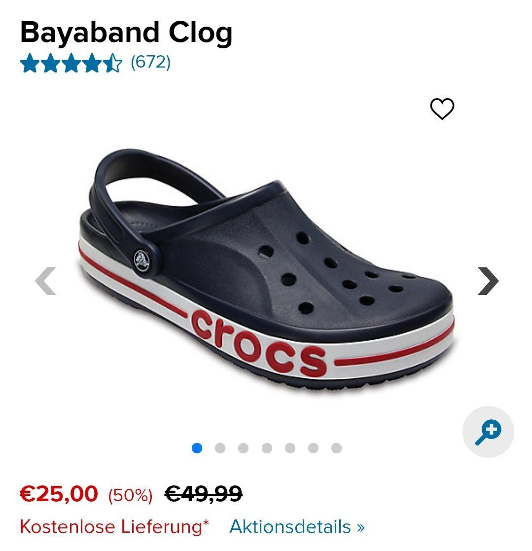 Bayaband Clog für Erwachsene bei CROCS + 10% Rabatt mit Gutscheincode (+ 7% Shoop (+ ab 79€ einen 10€ Shoop Gutschein))