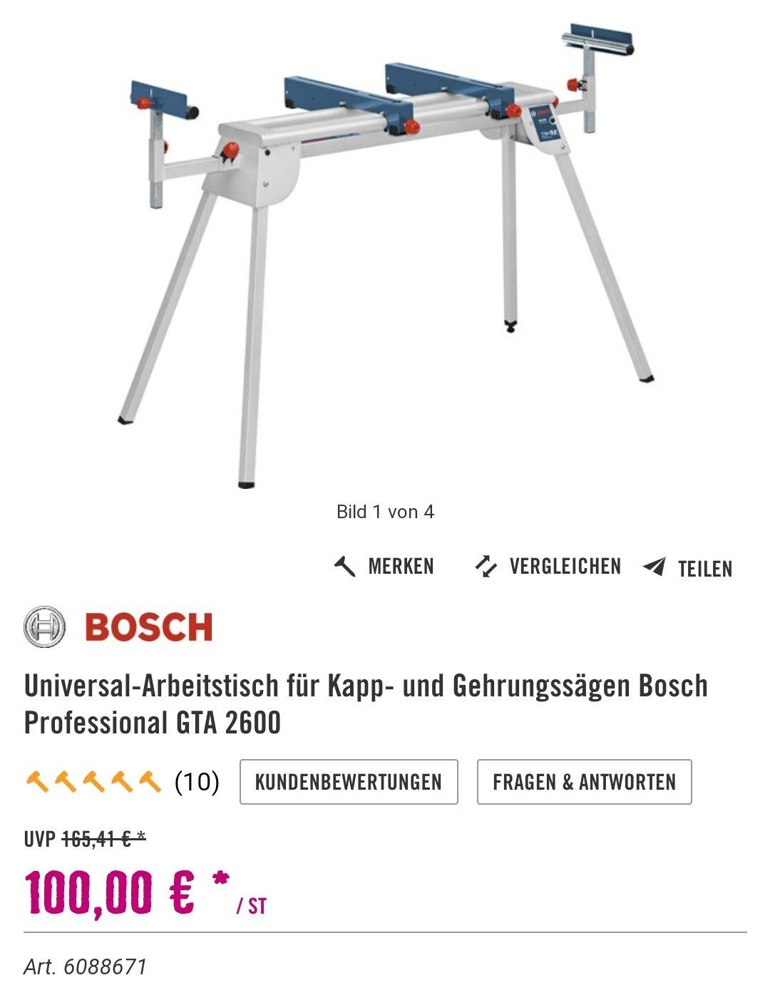 Bosch GTA 2600 Professional 100€ Hornbach oder TPG Bauhaus für 88€