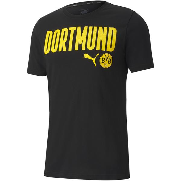 Puma BVB Fanartikel-Sale bei Sportdeal24: z.B. ftblCore Wording T-Shirt in drei Farben (Gr. S - 3XL) für 18,96€