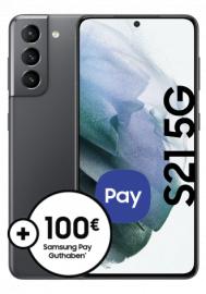 [GigaKombi] Samsung Galaxy S21 5G (128GB) mit Vodafone Young M (25GB LTE I 5G) für 203,99€ ZZ & mtl. 19,99€ + 100€ Samsung Pay