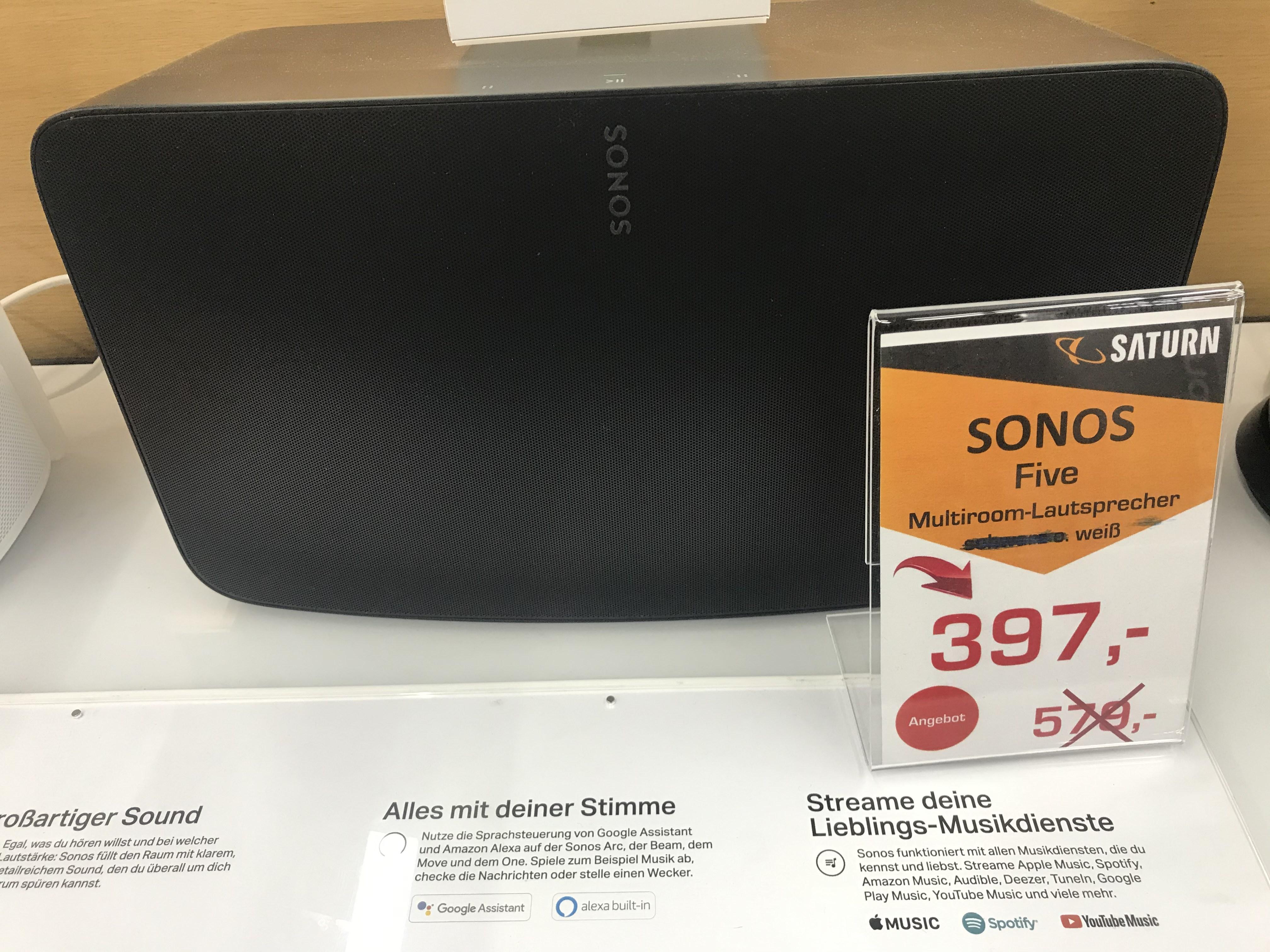 [lokal: Saturn Dortmund Eving] Sonos Five