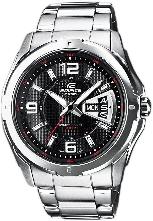Casio Edifice Armbanduhr (45 mm, Edelstahl, Quarz, Leuchtzeiger, Datumsanzeige, wasserdicht bis 10 bar)